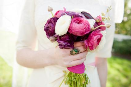 single wedding flowers