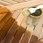 Wood varnishing a patio
